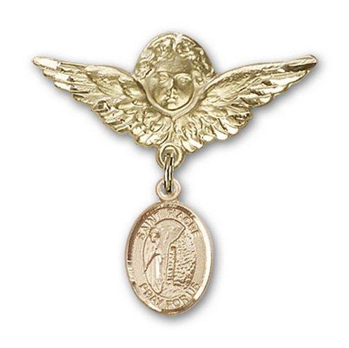Icecarats Or Bijoux De Créateurs Rempli R. Broches Badge Fiacre Charme D'Ange 1 1/8 X 1 1/8