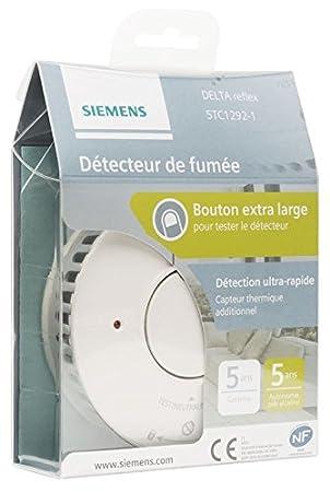 Siemens - Lote de 10 detectores de humo NF 5 años de autonomía y garantía Delta Reflex 5tc1292 - 1: Amazon.es: Bricolaje y herramientas