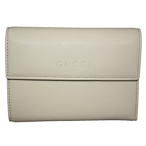 Gucci Soft Leather Continental Flap Wallet 346057 Off-White by Gucci