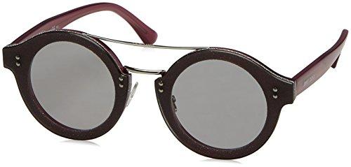 Jimmy Choo Plastic Oval Sunglasses 64 018C Plum Glitterpd VB - Sunglasses Vb