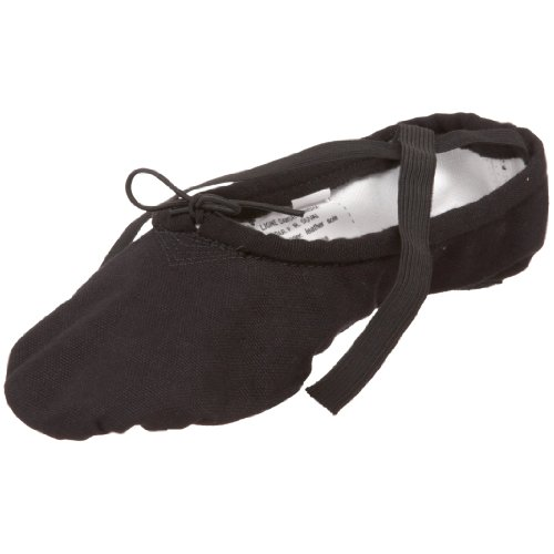 SANSHA Pro 1 Canvas Ballet Slipper,Black,16 M (12 M US Men's)