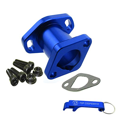 TC-Motor Blue Racing Performance Intake Pipe Inlet Manifold Gasket Screw For Predator 212cc For Honda GX200 For 6.5HP Chinese OHV Engines For Chinese 196cc Clone Engines Go Kart Cart Mini Bike (Clone Engine Parts)