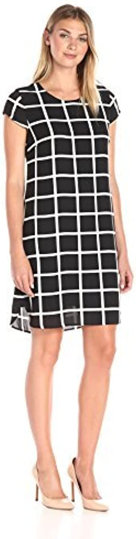 Lark /& Ro Womens Cap Sleeve Shift Dress Brand