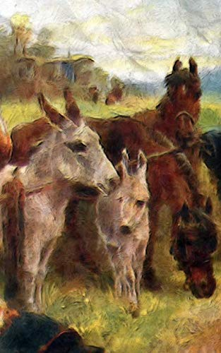 """Notebook: Gathering of Friends Farm Outdoors Horse Pony Notebook 5"""" x 8"""" 150 Ruled Pages by Wild Pages Press"""