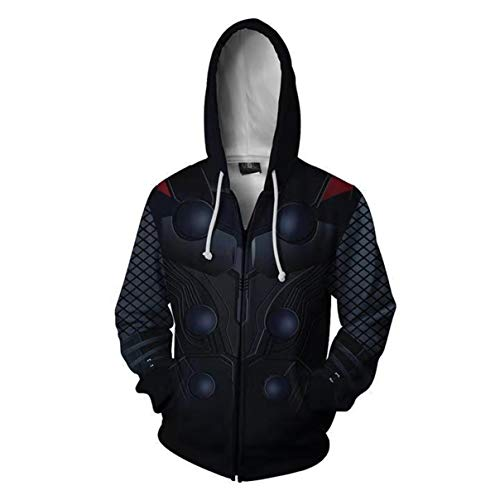 HIMIC E77C Super Hero Fashion Cosplay Hoodie Jacket (X-Large, Thor) -