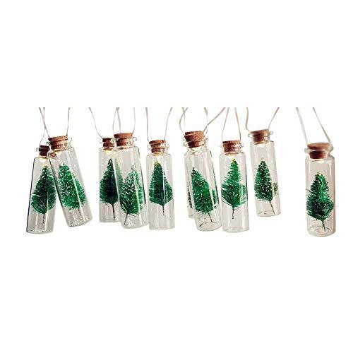 JPJ(TM) Christmas Tree ❤️1pcs 1M Christmas Fashion Battery Tree Mason Jar String Fairy Lights Glass Bottle Garland (Multicolor)