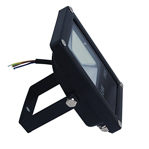 Excellent Outdoor LED Floodlight 10W SMD Warm white in Black Exhibition Architectural Lighting - Ideal Replacement for Halogen + US Local - Plaza Park Mall