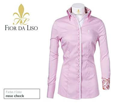 ef7f84c6eb2b Fior Da Liso Damen-Bluse Maria Rose-Kariert Gr. 36  Amazon.de  Bekleidung