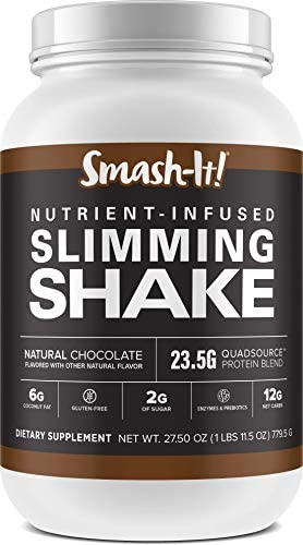 Primal Labs Smash-It! Nutrient Infused Low Carb Protein Powder for Weight Loss, Keto Meal Replacement Shake Powder, Gluten-Free Whey Protein Powder, Delicious Chocolate Flavor, 780 Grams 1
