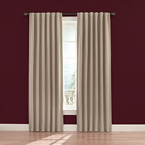 Eclipse Fresno 52 by 84-Inch Blackout Window Curtain, Wheat