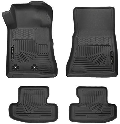 Husky Liners 99371 Black Weatherbeater Front & 2nd Seat Floor Liners Fits 2015-2019 Ford - Mustang Roush Ford Manual