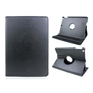 Meiego 360 Degree Rotating PU Leather Case Cover Stand for Apple iPad Air 5 5th Gen-Black