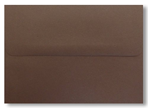 Shipped Free 1000 Case A7 Dark Chocolate Brown 70lb (5-1/4 X 7-1/4) Envelopes for 5 X 7 Greeting Cards Invitation Photos Birth Announcement Shower Christening Thank Wedding By Envelopegallery (Chocolate Photo Birth Announcement)