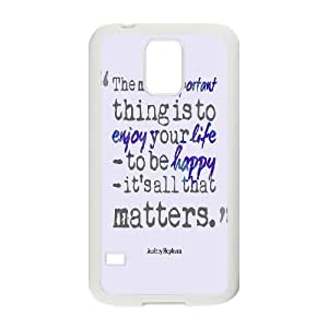 Audrey Hepburn Quote Customized Cover Case with Hard Shell Protection for SamSung Galaxy S5 I9600 Case lxa#904223 Kimberly Kurzendoerfer