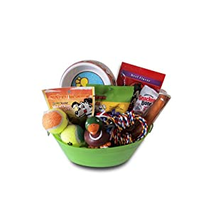 Dog Gift Basket Treats Crewing Toy Set