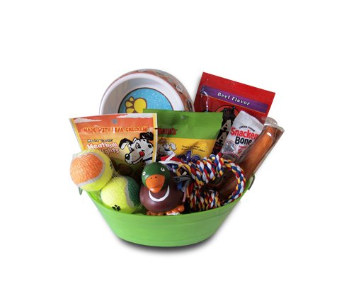 Dog Gift Basket Treats Crewing Toy Set (Dog Treat Gift Baskets)