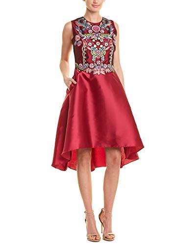Marchesa Notte Womens Silk-Blend Cocktail Dress, 4 Fuchsia ()