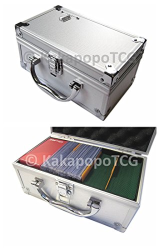 D3 Silver Metal Storage Carry Case Cube for Trading Cards Deck Box Toploader TCG Ultra Pro Protector Sleeve Card Game MTG Magic the Gathering YGO Yugioh Wow Pokemon Match Attax Dice Counter Vanguard (Top Loader Storage Box compare prices)
