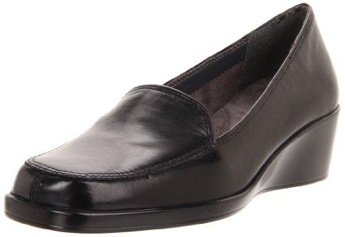 Aerosoles Women s Final Exam Wedge,Black Leather,8 M US