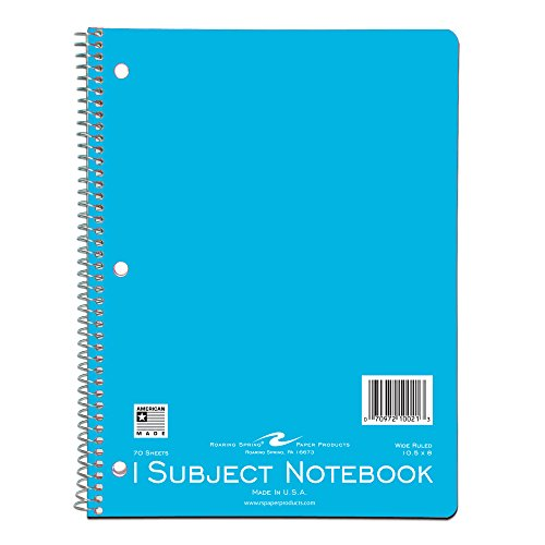 Roaring Spring Wirebound Notebook, One Subject, 10.5