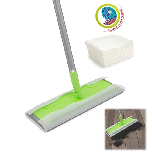 Static Floor Duster Cleaning Mop use with Wet or Dry Wipes