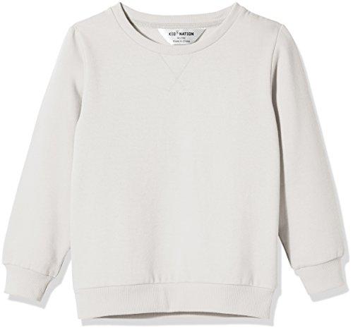 - Kid Nation Kids' Slouchy Soft Brushed Fleece Casual Basic Crewneck Sweatshirt for Boys or Girls M White