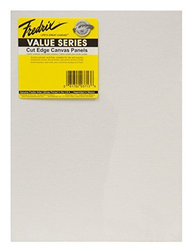 Tara Materials Fredrix 12x16 Value Series Cut Edge Canvas Panels 6/pk [並行輸入品]   B07T9T1XJ9