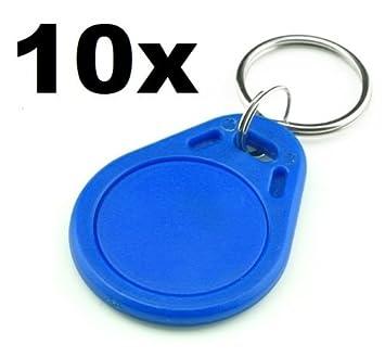 10 x Tag RFID Azul 13.56 MHz Lector RC522 Llave de ...