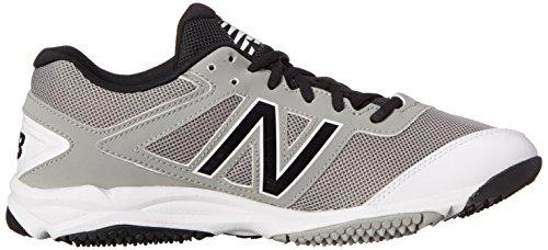 New Balance Mens T4040V3 Turf Baseball Shoe, Grey/Black, 10 D US Grey/Black