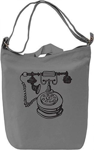 Telephone Borsa Giornaliera Canvas Canvas Day Bag| 100% Premium Cotton Canvas| DTG Printing|