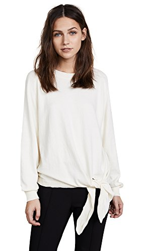 Vince Women's Tie Waist Crewneck, Cream, Small by Vince (Image #1)