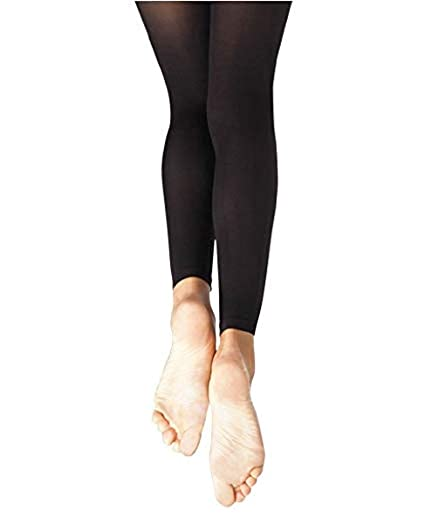 f196fd634a862 Body Wrappers A33 TotalSTRETCH Footless Tights (Small / Medium, Black)
