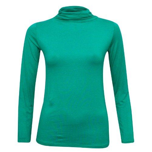 XpoZed Moda - Camiseta de manga larga - para mujer Verde