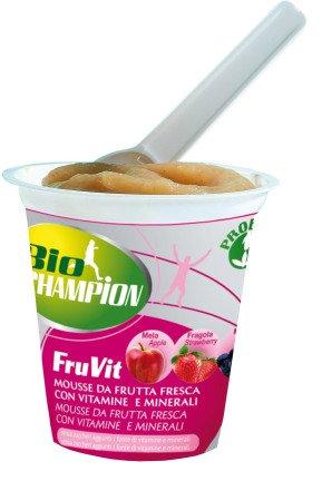 BioChampion FruVit Mousse Orgánica de Frutas Vitaminas Y Minerales 125g