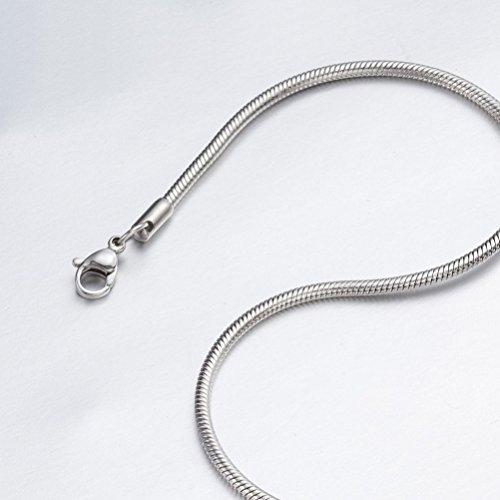 9mm Snake Chain - SANDRA Mens Jewelry 0.9mm-2.4mm 16