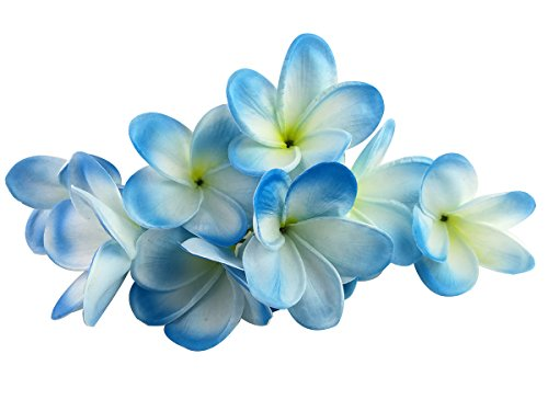 Winterworm-Bunch-of-10-PU-Real-Touch-Lifelike-Artificial-Plumeria-Frangipani-Flower-Bouquets-Wedding-Home-Party-Decoration-Light-Blue