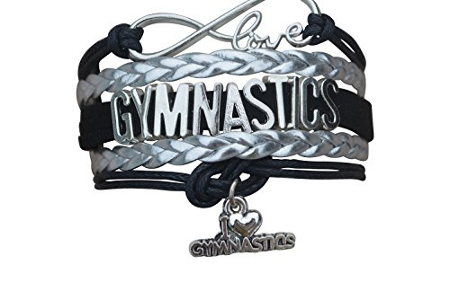 Gymnastics Bracelet- Girls Gymnastics Bracelet- Gymnastics Jewelry For Gymnast ()