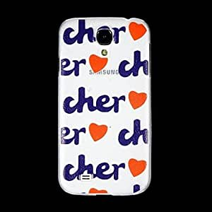 Cher Back Cover Transparent Plastic for The Samsung Galaxy S4 I9500