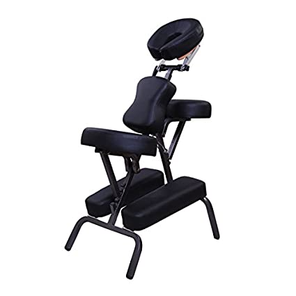 3 High Density Padding Portable Massage Chair PU Leather Adjustable Height Tattoo Spa Facial Beauty + Free Carrying Case