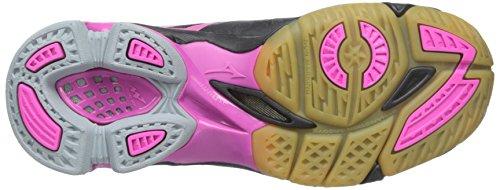 Mizuno Frauen Wave Lightning Z WOMS BK-PK Volleyballschuh Schwarz / Pink