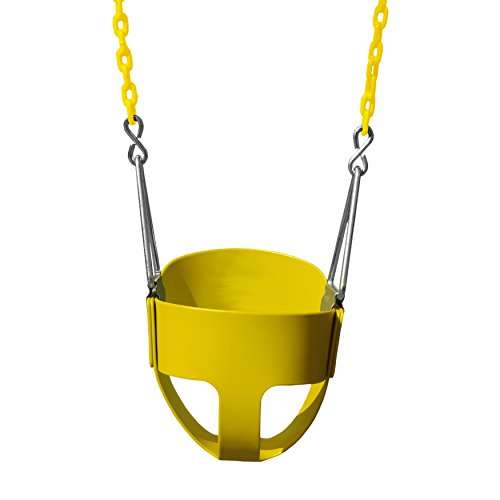(Gorilla Playsets Full Bucket Toddler Swing Color: Yellow)