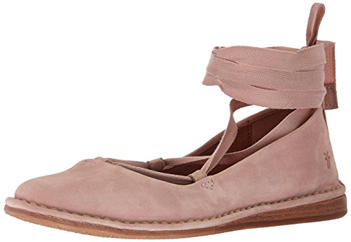 Helena Blush (FRYE Women's Helena Ankle Tie Moccasin, Blush, 10 M US)