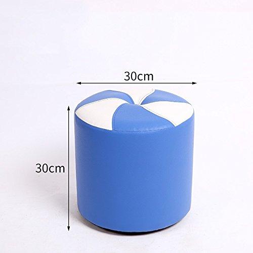 bluee 30cm STJK BMJW Footstool Stool Stool Stool Stool Stool Door Stool Small Stool bluee 30Cm