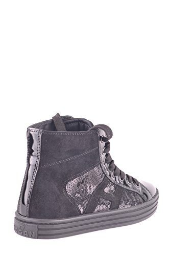 Hogan Hi Top Sneakers Donna MCBI148363O Camoscio Nero