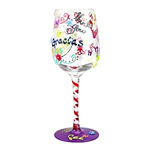 Top Shelf Thank You Wine Glass – Unique Wine Lover Gifts - Hand Painted