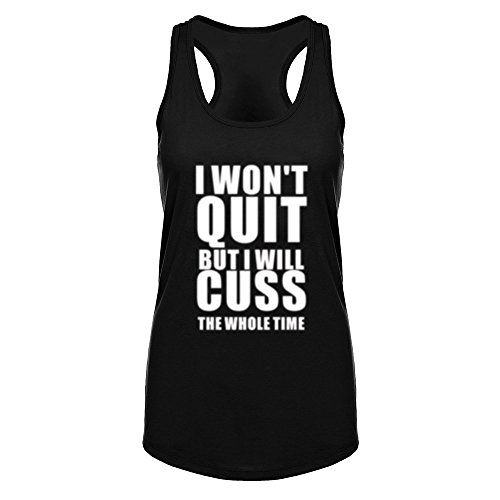 workout Products : Womens I Won't Quit But I Will Cuss The Whole Time Fitness Workout Tank Tops