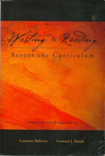 Writing&Reading Across the Curriculum (Custom Edition for Eastern Washington University)