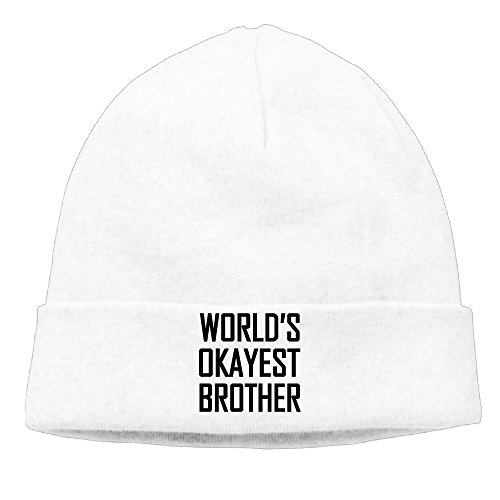 World's Okayest Brother Symbol Logo Woolen Skull Cap