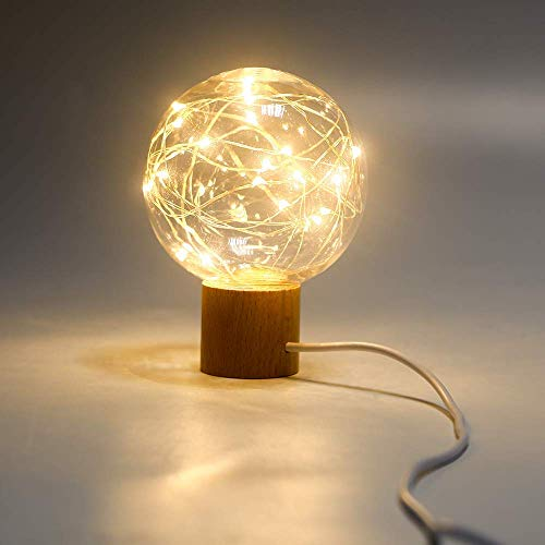 (【2018 Upgrade】Eleventree Night Light Kids LED Bedside Lamp USB Starry Fairy Lights for Children, Bedroom, Seasonal Decorative String Lights on Christmas, Wedding, Parties,(20LED Warm White))