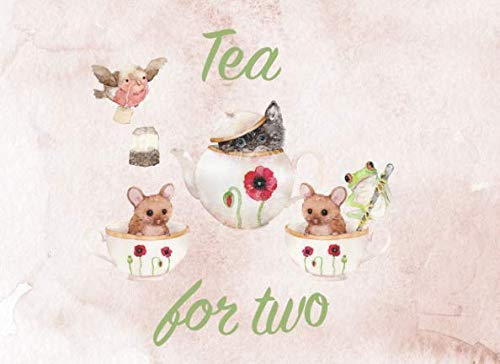 Tea For Two: Twins Guest Book | Baby Showers and Birthday Parties | Gentle watercolor drawings | Gender neutral colors | 250 guests and their messages and best -